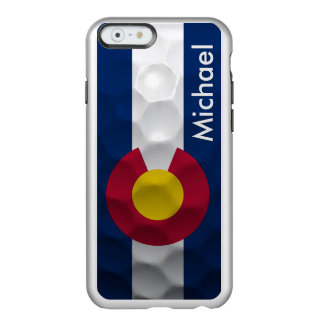 Personalized Colorado Flag Golf Ball Pattern Incipio Feather® Shine iPhone 6 Case