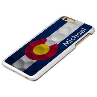 Personalized Colorado Flag Golf Ball Pattern Incipio Feather® Shine iPhone 6 Plus Case