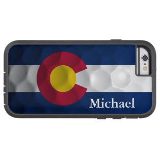 Personalized Colorado Flag Golf Ball Pattern Tough Xtreme iPhone 6 Case