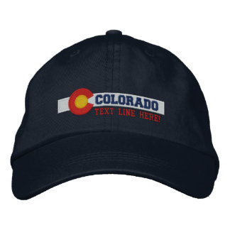 Personalized Colorado State Flag Design Embroidered Baseball Caps