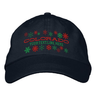 Personalized Colorado Winter Snowflakes Embroidered Baseball Caps