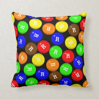 Personalized Colorful Candy Coated Chocolates Cushion