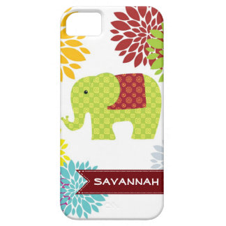 Personalized Colorful Hippie Elephant Flower Case