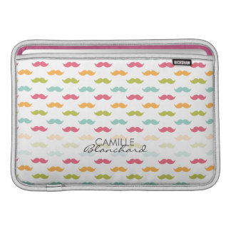 Personalized Colorful Mustache Lovers MacBook Sleeve