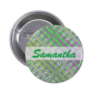 Personalized Colorful Pastel Zigzag Pattern 6 Cm Round Badge