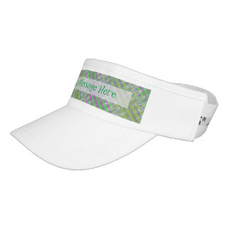 Personalized Colorful Pastel Zigzag Pattern Visor