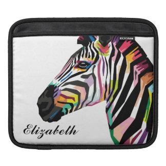 Personalized Colorful Pop Art Zebra iPad Sleeve