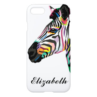 Personalized Colorful Pop Art Zebra iPhone 8/7 Case