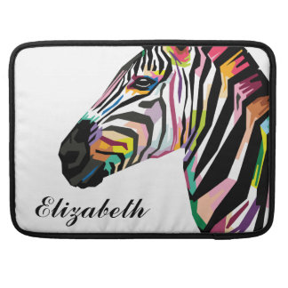 Personalized Colorful Pop Art Zebra Sleeve For MacBook Pro