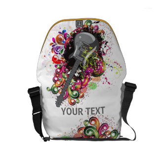 Personalized Colorful retro music Guitar bag Commuter Bags