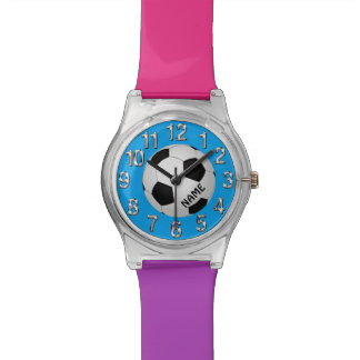 Personalized Colorful Soccer Watch for Girls
