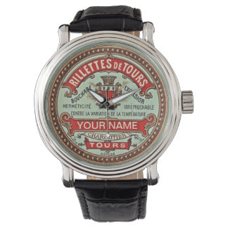 Personalized Colorful Vintage Apothecary Label Watch