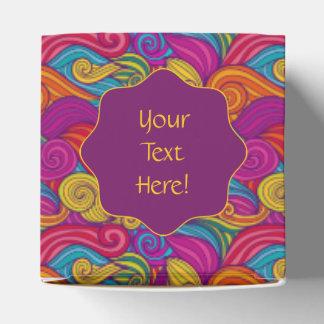 Personalized Colorful Wavy Stripe Swirls Pattern Favour Boxes