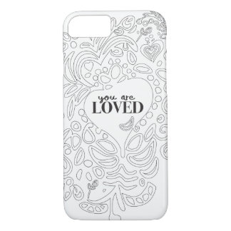 Personalized Coloring Page Inspired -You are Loved iPhone 8/7 Case