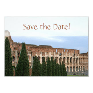 "Personalized Colosseum Rome Italy Save the Date 5"" X 7"" Invitation Card"