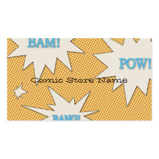Personalized Comic Book Store Business Card