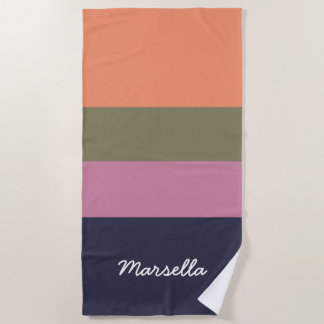 Personalized Contemporary Candy Bar Hoop Beach Towel