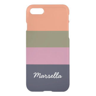 Personalized Contemporary Candy Bar Hoop iPhone 8/7 Case