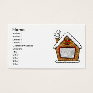 Personalized cookie house Christmas Business Card