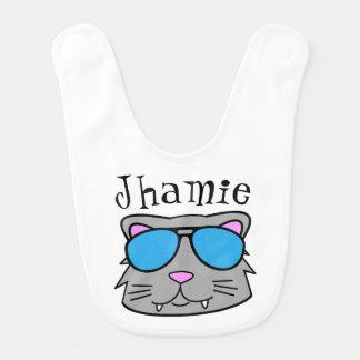 Personalized Cool Cat Bib