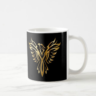 Personalized Cool Gold Phoenix Coffee Mug