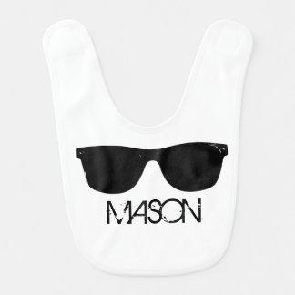 Personalized Cool Kid Sunglasses Bib