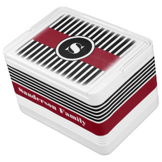 Personalized Cool & Modern Stripes Igloo Cooler