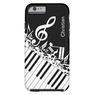 Personalized cool Musical Notes and Piano Keys Tough iPhone 6 Case
