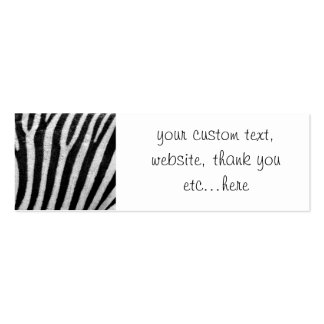 Personalized Cool Zebra Pattern Texture Business Cards