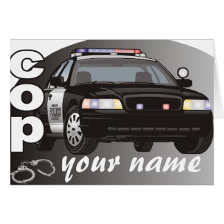Personalized Cop Note Card