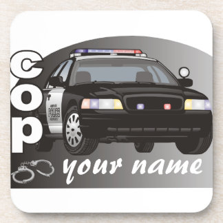 Personalized Cop Coaster