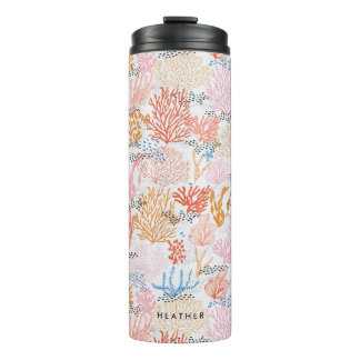 Personalized   Coral Reef Thermal Tumbler