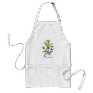 Personalized Cornflowers Apron