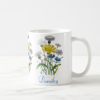 Personalized Cornflowers Basic White Mug