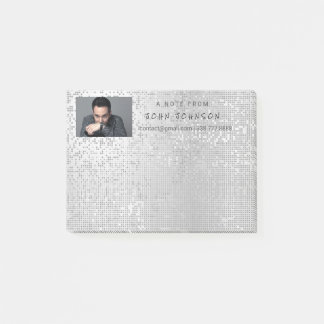 Personalized Corporate Gray Silver Cyber IT Manag Post-it Notes