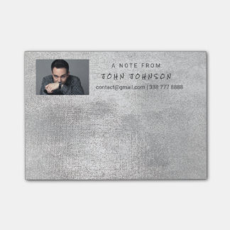 Personalized Corporate Gray Silver IT Boss Post-it® Notes