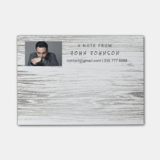 Personalized Corporate Gray Silver IT Wood Post-it® Notes