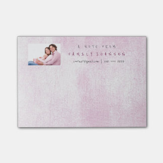 Personalized Corporate Silver Pink Painting Post-it Notes