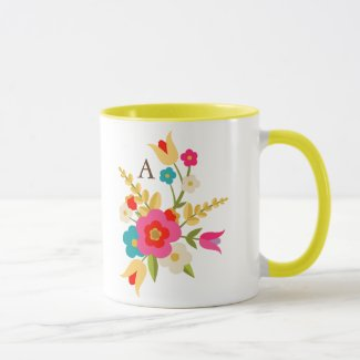 Personalized | Country Floral Mug