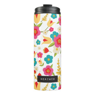 Personalized | Country Flowers Thermal Tumbler