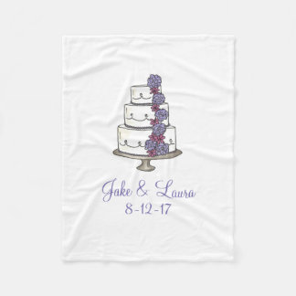 Personalized Couple Name Wedding Cake Gift Blanket