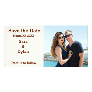 Personalized Couple Save the Date Photo Card
