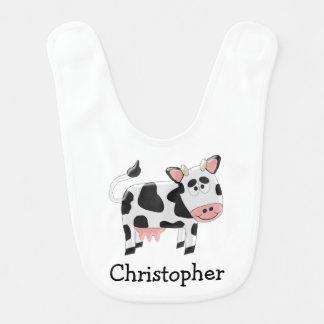 Personalized Cow Design Bib