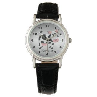 Personalized Cow Design Wristwatch