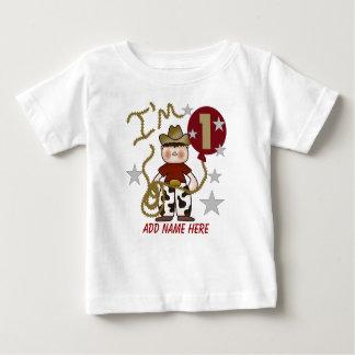 Personalized Cowboy 1st Birthday Tshirt