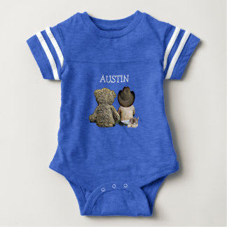 Personalized Cowboy and Teddy Bear Baby Tee