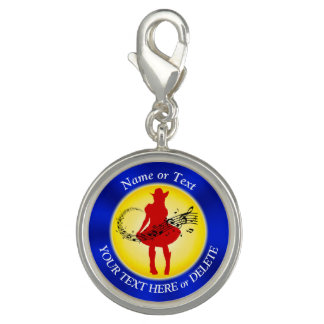 Personalized Cowgirl Charms Your Name and Text