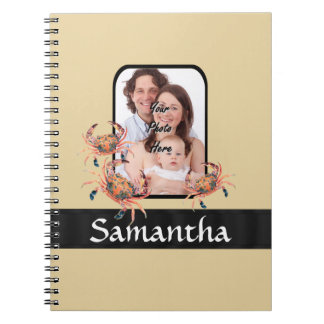 Personalized crab notebook