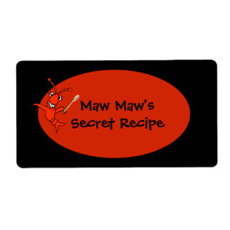 Personalized Crawfish Food Label Shipping Label