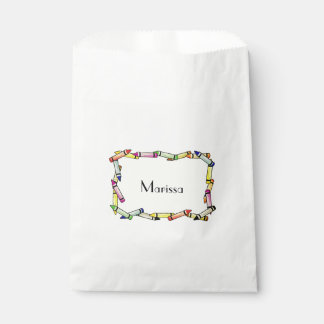 Personalized Crayon Party Treat Bags